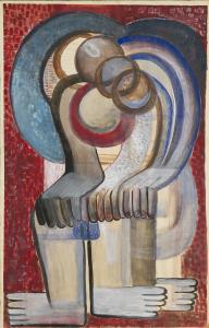 Teresa Żarnower, Expectation, 1946, gwasz na papierze, Kolekcja Elizabeth Sobczynski, Londyn