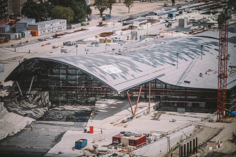 Budowa Dworca Łódź-Fabryczna, Fot. Zbigniew Polędwica