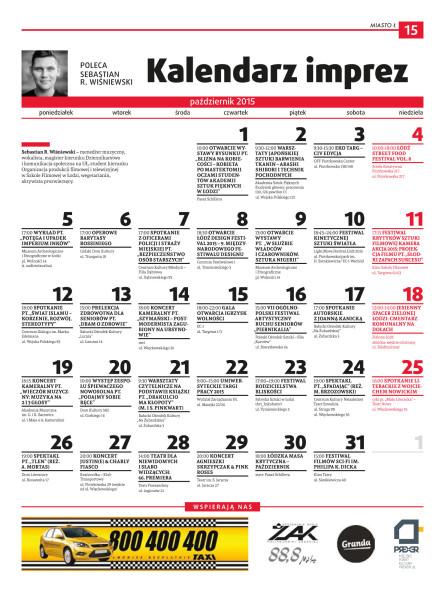 Kalendarz imprez, październik 2015