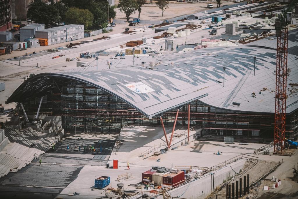 Budowa dworca Łódź-Fabryczna. Fot. Zbigniew Polędwica